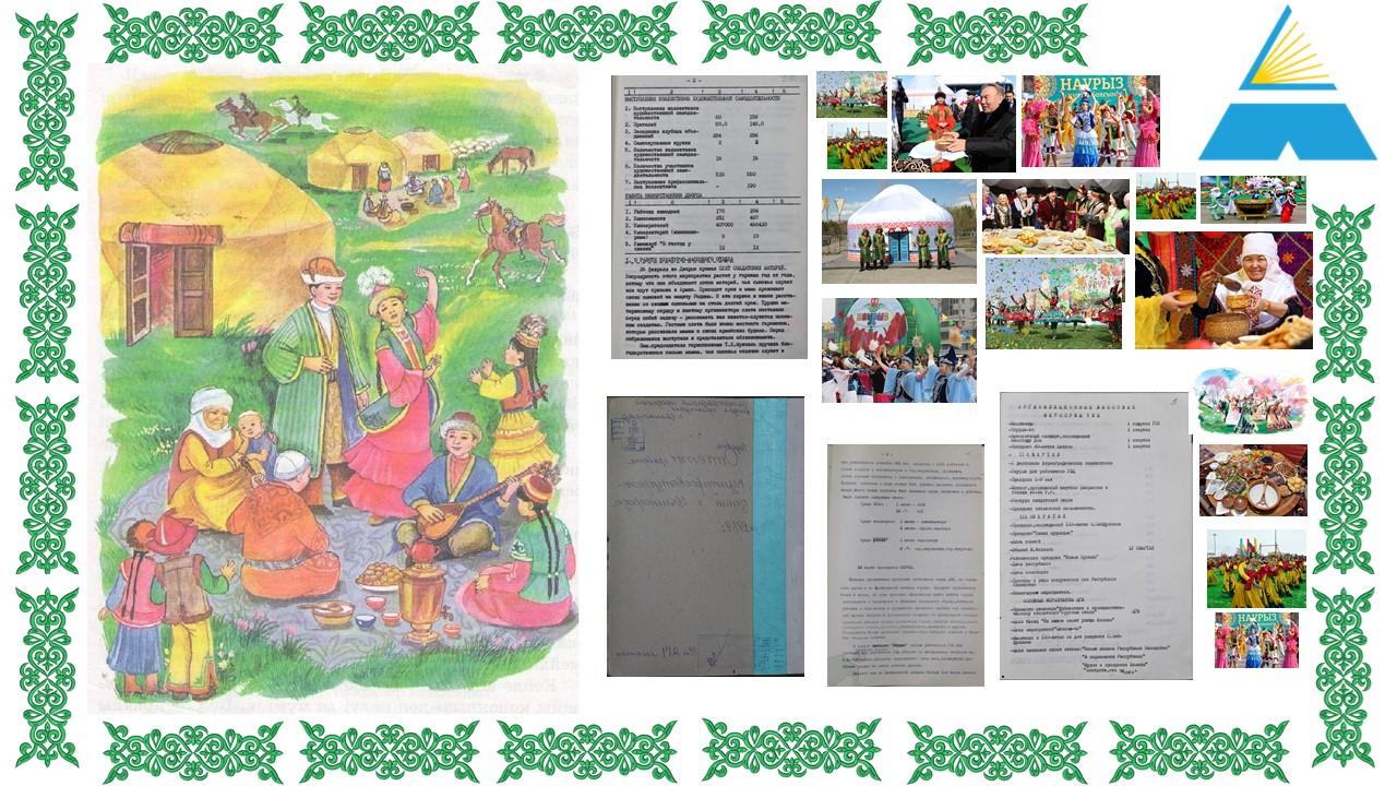 Государственное учреждение «Государственный архив города Нур-Султана» представляет Виртуальную выставку «Наурыз мейрамы в истории столицы » ко Дню Наурыз мейрамы.