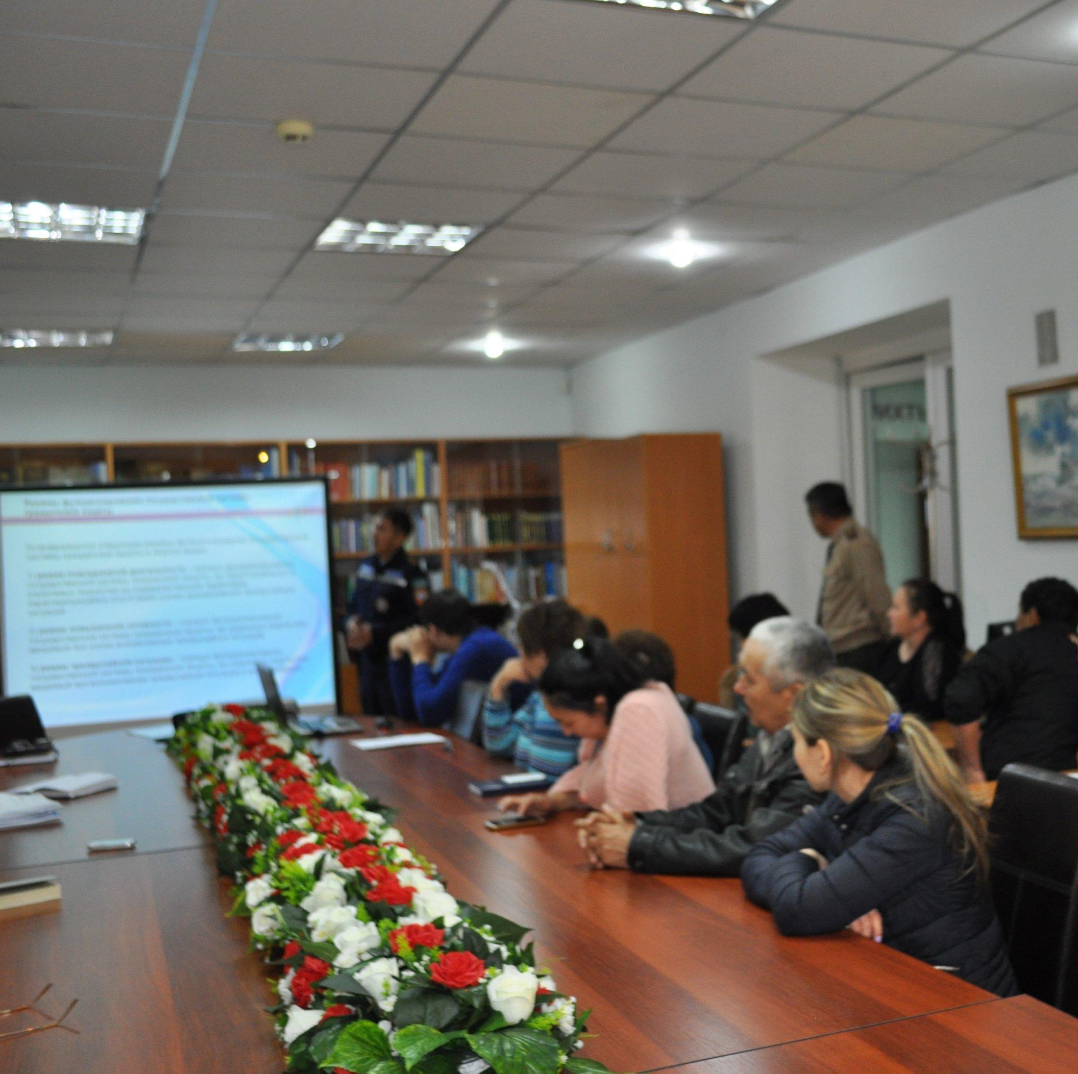В Государственном учреждении «Государственный архив города Астаны»  состоялось  учебно-методическое занятие по основам гражданской обороны и противопожарной безопасности.